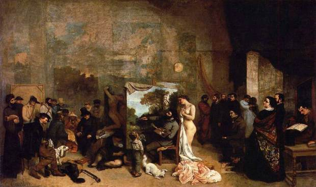 Gustave_Courbet_-_The_Studio_of_the_Painter_-_WGA05465