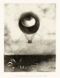 To_Edgar_Poe_(The_Eye,_Like_a_Strange_Balloon,_Mounts_toward_Infinity)_(A_Edgar_Poe_(L'oeil,_comme_un_ballon_bizarre_se_dirige_vers_l'infini))_LACMA_AC1997.14.1.1
